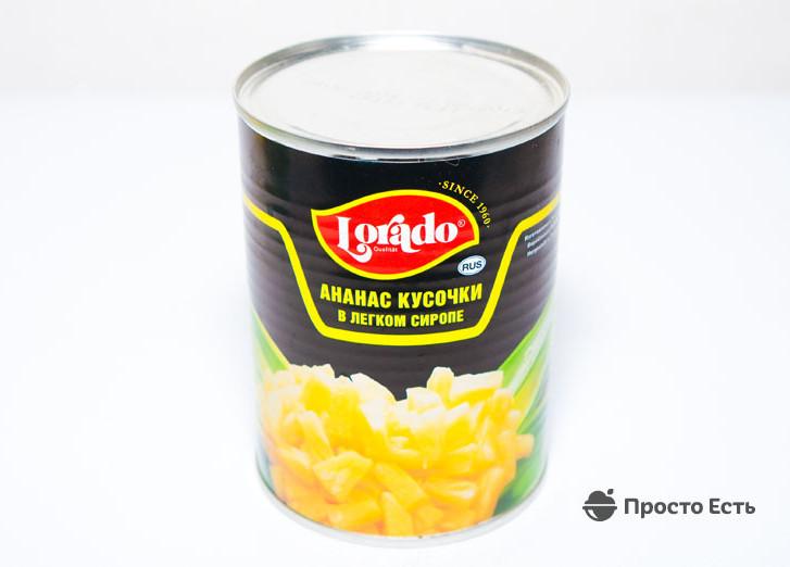 Салат ананасы консервированные сыр