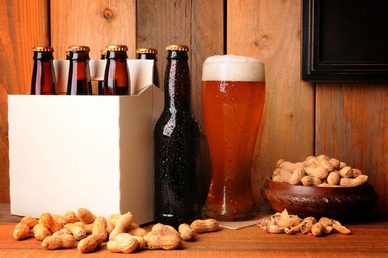 орехи пиво
