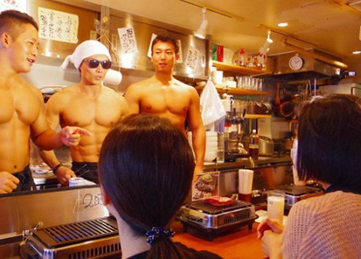 Картинки по запросу В Японии открылся ресторан для настоящих мачо